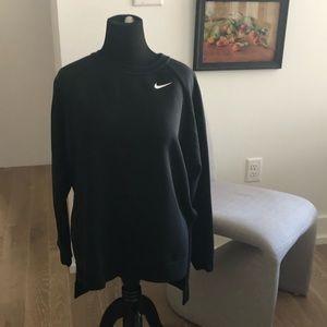 NIKE Dri-Fit Black Raglan Sleeve Sweatshirt L EUC